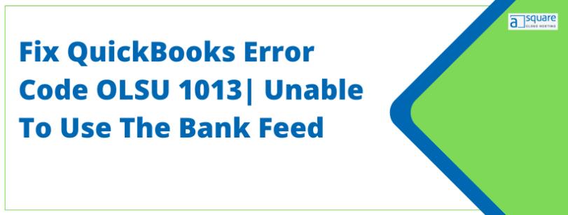 QuickBooks Error Code OLSU 1013