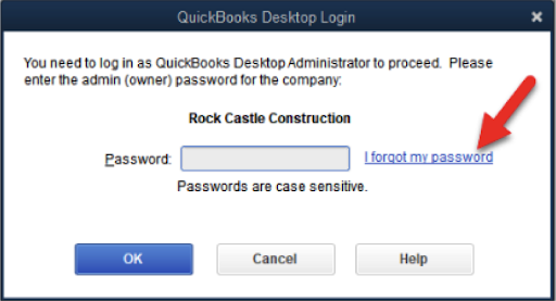 Recovering Intuit Qb Admin Password for 2019 or Older versions