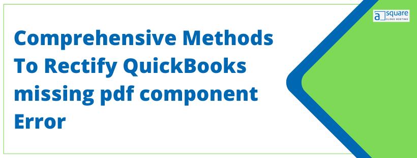 QuickBooks missing pdf component Error