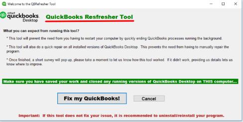 QuickBooks Refresher Utility