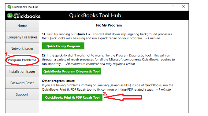 intuit QuickBooks PDF repair tool