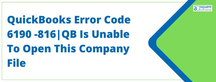 QuickBooks Error Code 6190