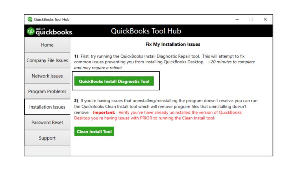 Download QB Install Diagnostic Tool