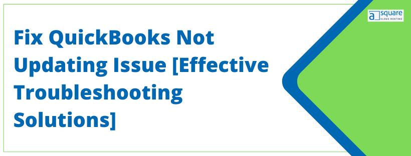 QuickBooks Not Updating