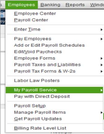 My QuickBooks Payroll Service