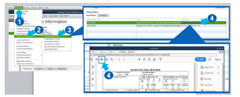 Process Payroll Forms to Print W2