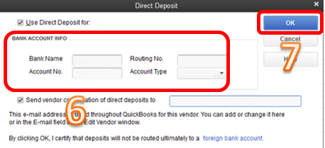 Select two account option under Amount to Deposit
