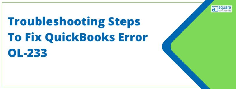 QuickBooks Error OL-233