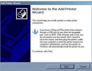 Add Network Printer Installation Wizard