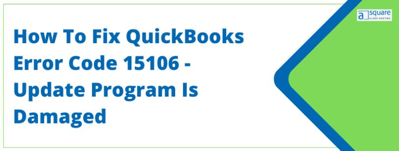 QuickBooks Error Code 15106