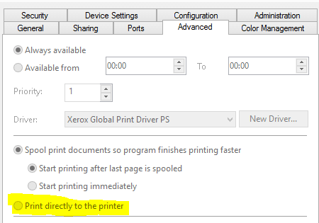 Open print directly