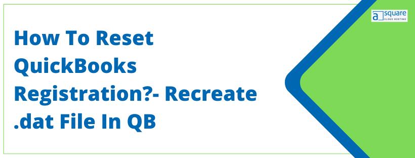 Reset QuickBooks Registration