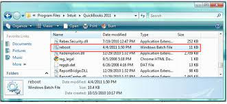 Run QuickBooks Reboot.bat File