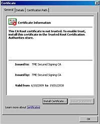 install digital signature certificate
