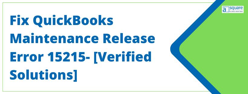 QuickBooks maintenance release error 15215