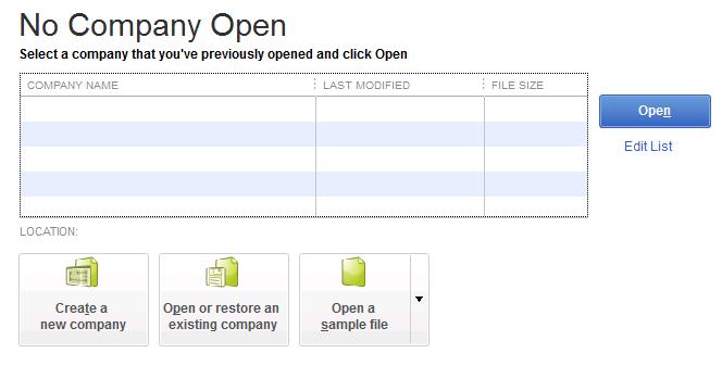 No Company Open window