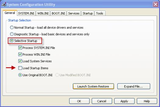 System Configuration Utility