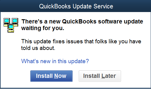 Install QuickBooks Update