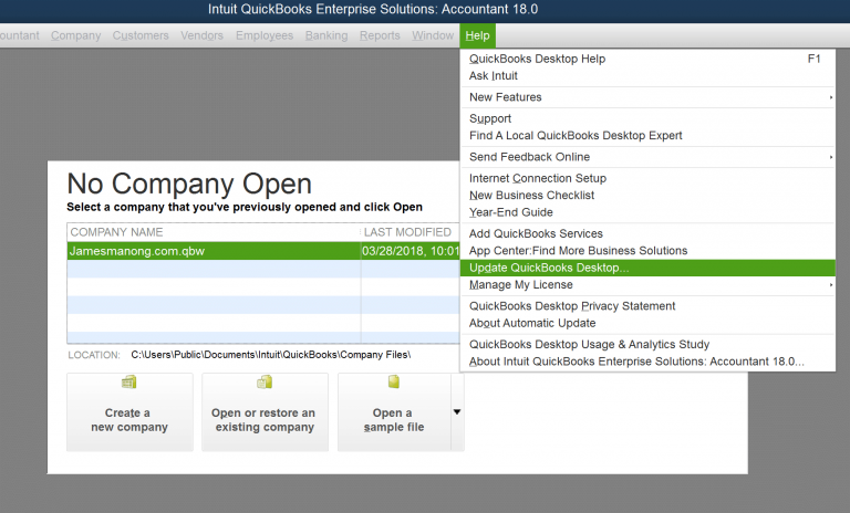 Update QuickBooks Desktop to Latest Version