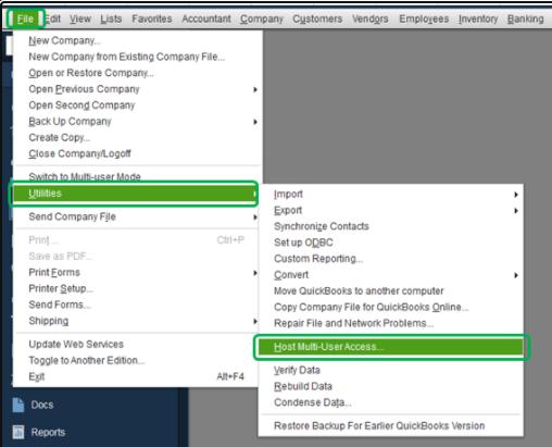 Fix Disable QuickBooks Hosting Mode Error
